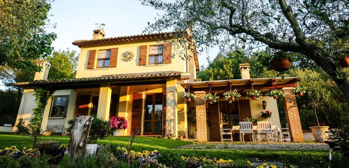 Luxury, front, flowers, garden